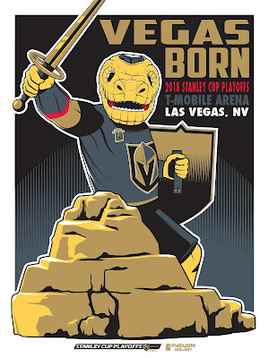 Las Vegas Golden Knights 2018 NHL Playoffs Commemorative Screen Print by Michael Fitzgerald x Phenom Gallery