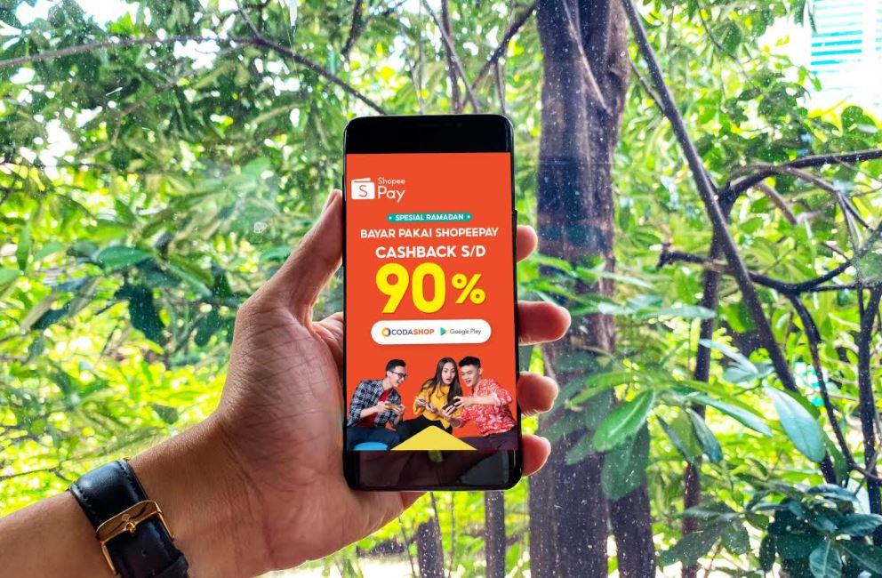 Siap-Siap Promo! ShopeePay Berikan Cashback Hingga 90% di Codashop dan Google Play Store