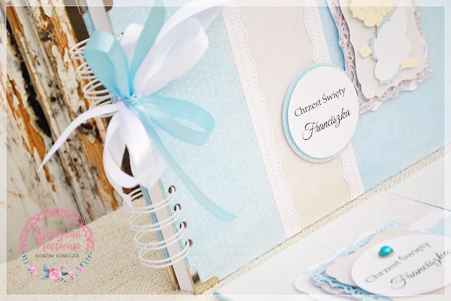 folder na zdjęcia chrzest święty scrapbooking handmade