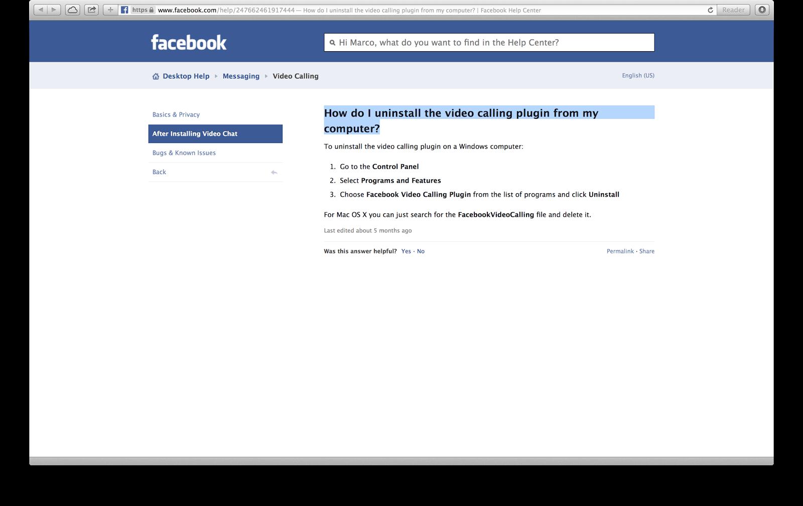 Do uninstall facebook i How