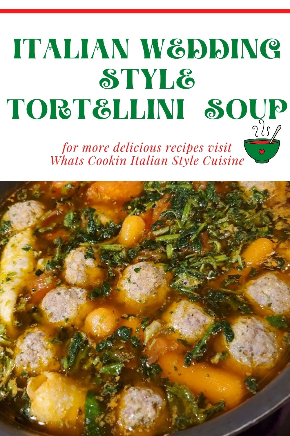this is an Italian wedding soup pin for later