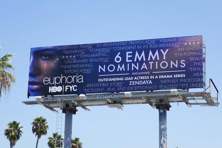 Euphoria 2020 Emmy nominee billboard