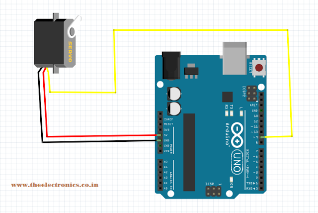 Servo motor simulation with arduino in proteus