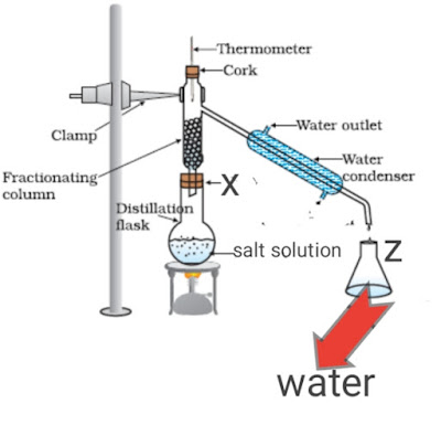 Separation of component of ink by paper chromatography