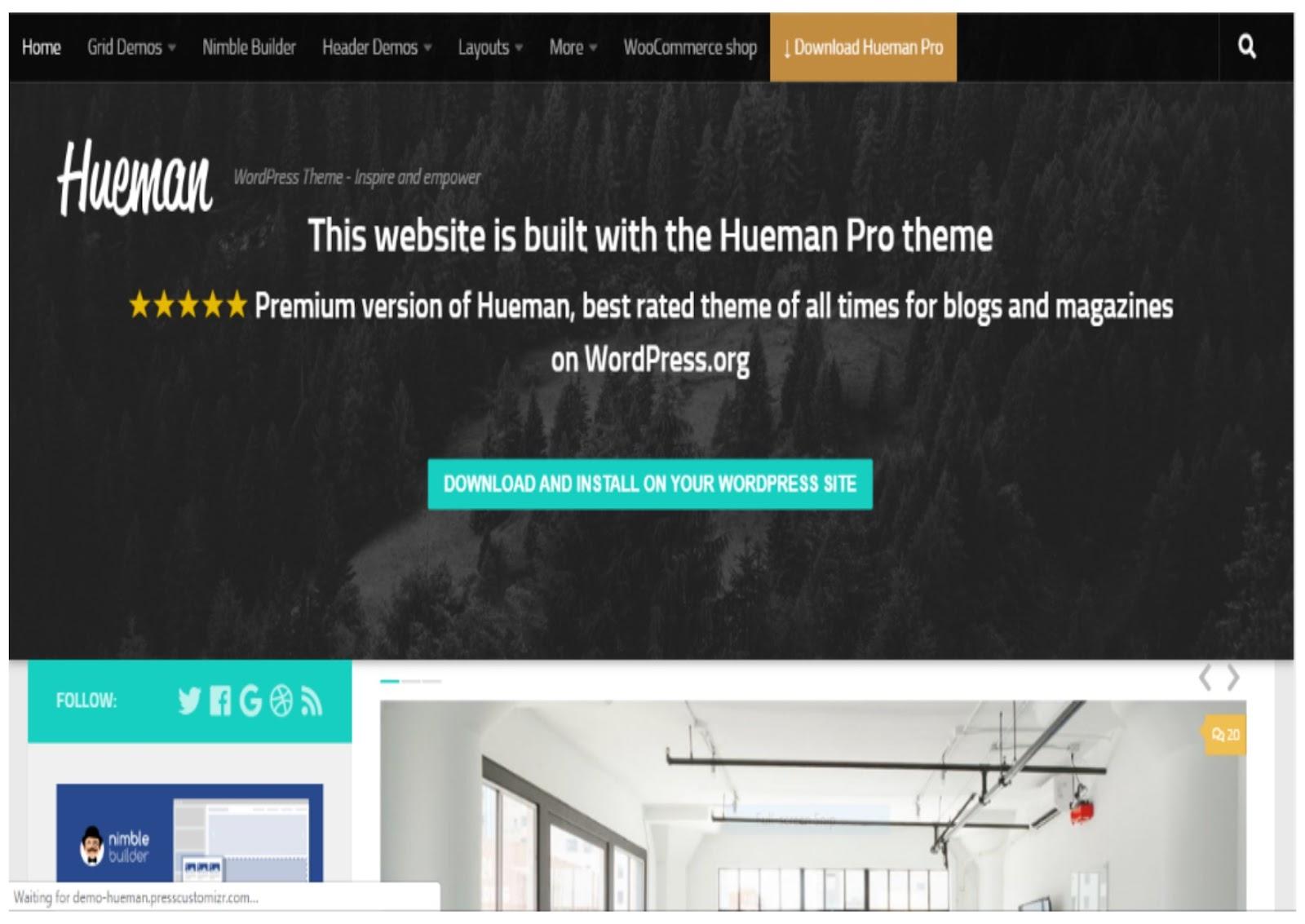 Hueman Magazine WordPress Theme