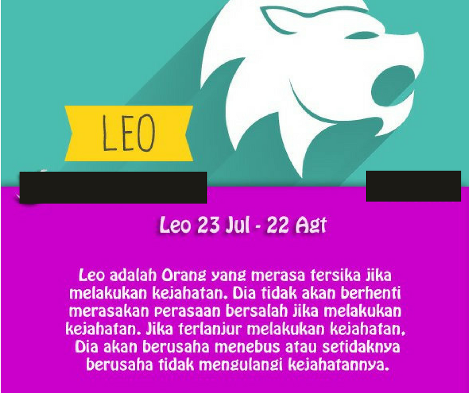 Sifat Zodiak Leo - Kumpulan Caption