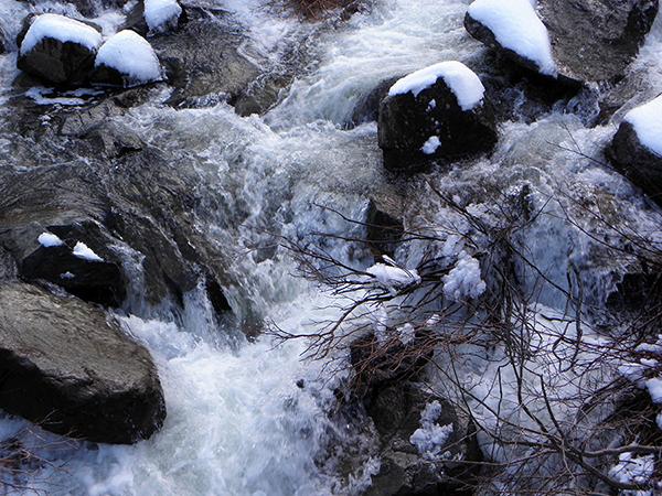 Closeup of Eagle Creek's Raging Waters
