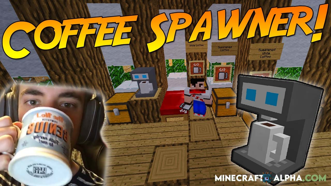 Minecraft Coffee Spawner Mod 1.17.1 (Drinkable Coffee Every Morning)