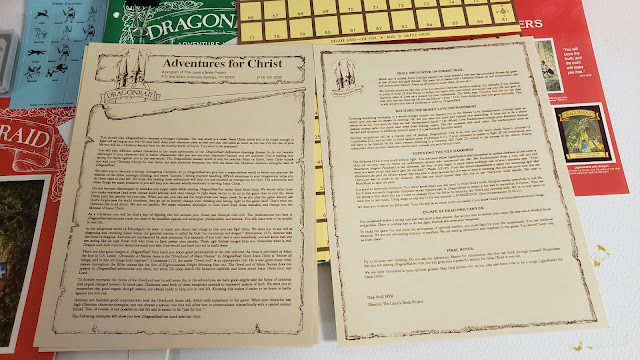 The DragonRaid RPG Box contents 5 documentation