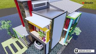 model rumah minimalis 2 lantai 8x12 - desain rumah minimalis
