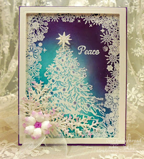 Our Daily Bread Designs, Snowflake Border Background, O Christmas Tree, Lovely Leaves, Peaceful Poinsettia, Shining Star, Designed by Robin Clendenning