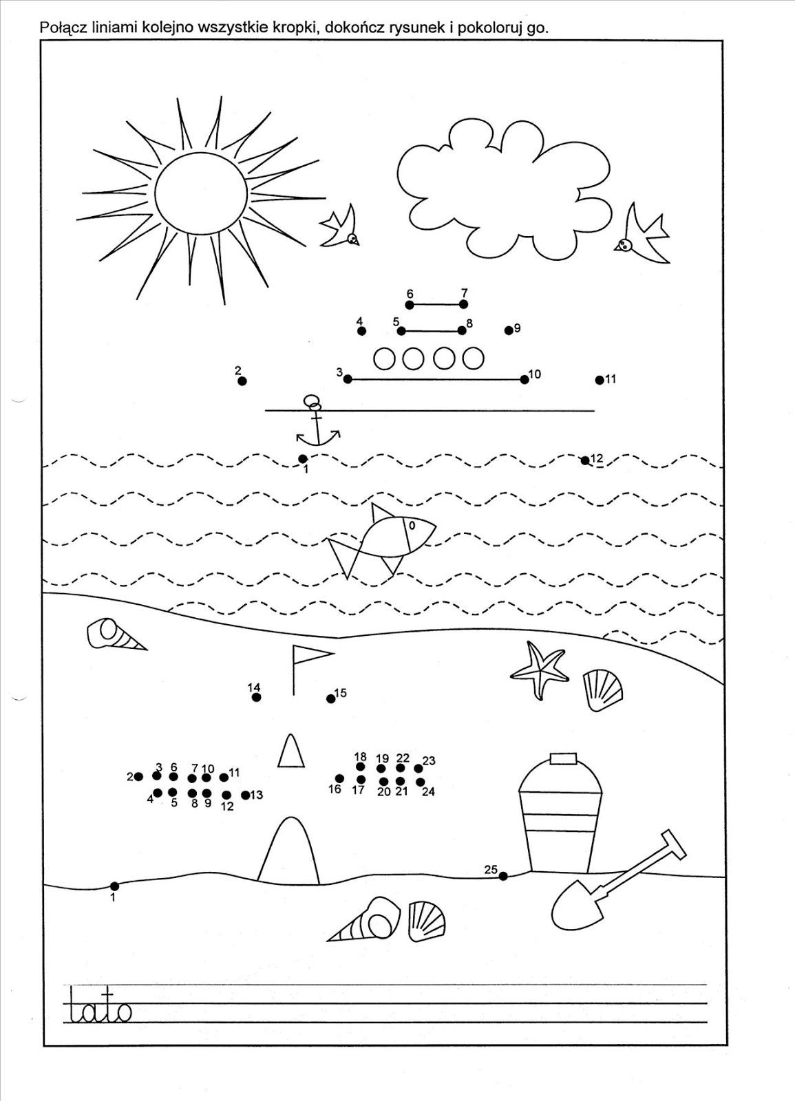 Przedszkolaki to równiaki: wakacje nad morzem- kilka pomysłów CZ I