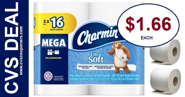 Charmin Toilet Paper Deal at CVS $1.66 3-1-3-7