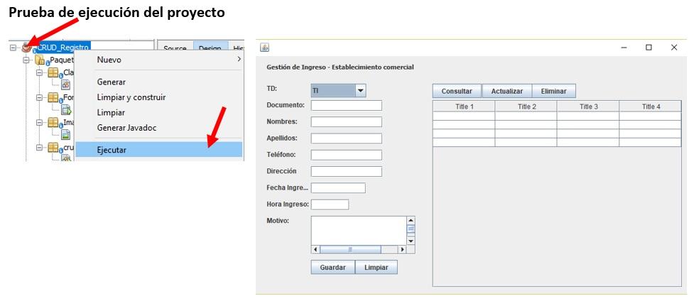 CRUD en Java Crear la interfaz del Software