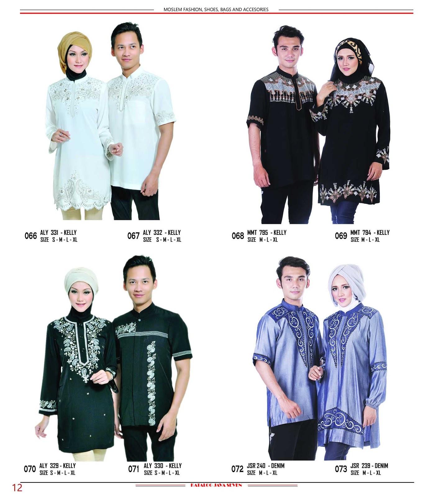 Katalog Java Seven 2015 2016 098 Baju Couple Keluarga Muslim Sarimbit