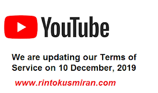 We are updating our Terms of Service on 10 December, 2019