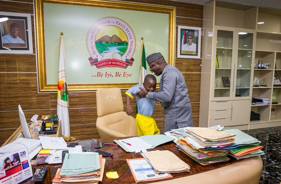7-year-old-boy-acts-as-governor-of-Ekiti-state-10