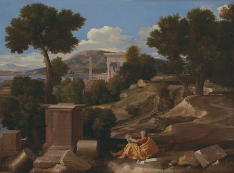 Patmos'ta Aziz John (Yuhanna) ile Peyzaj