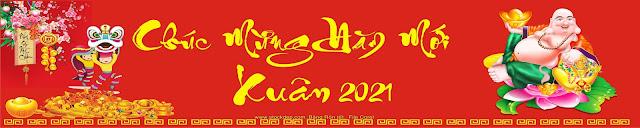 Băng rôn tết 2021