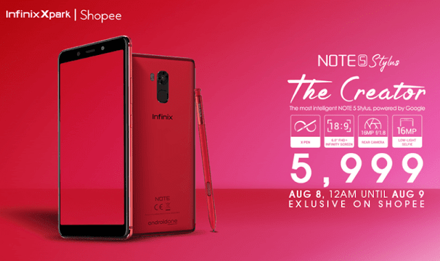 Infinix Note 5 Stylus now available in the Philippines
