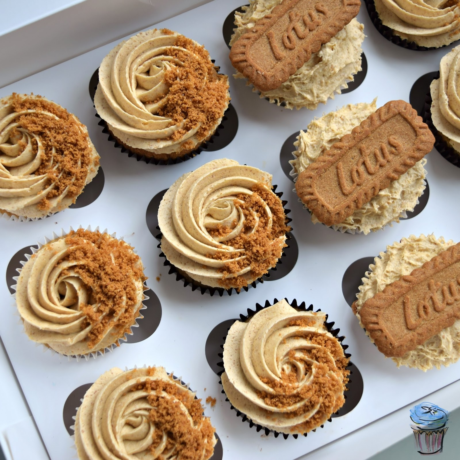 Lotus spread and biscoff cupcakes dairy free designs and recipes