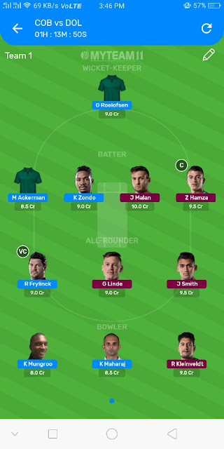 CC vs DOL Dream11