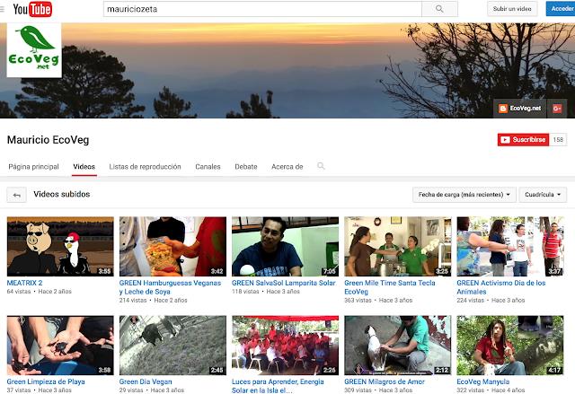 Canal Anterior en YouTube