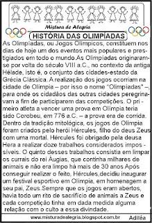 Texto sobre a História das olimpíadas