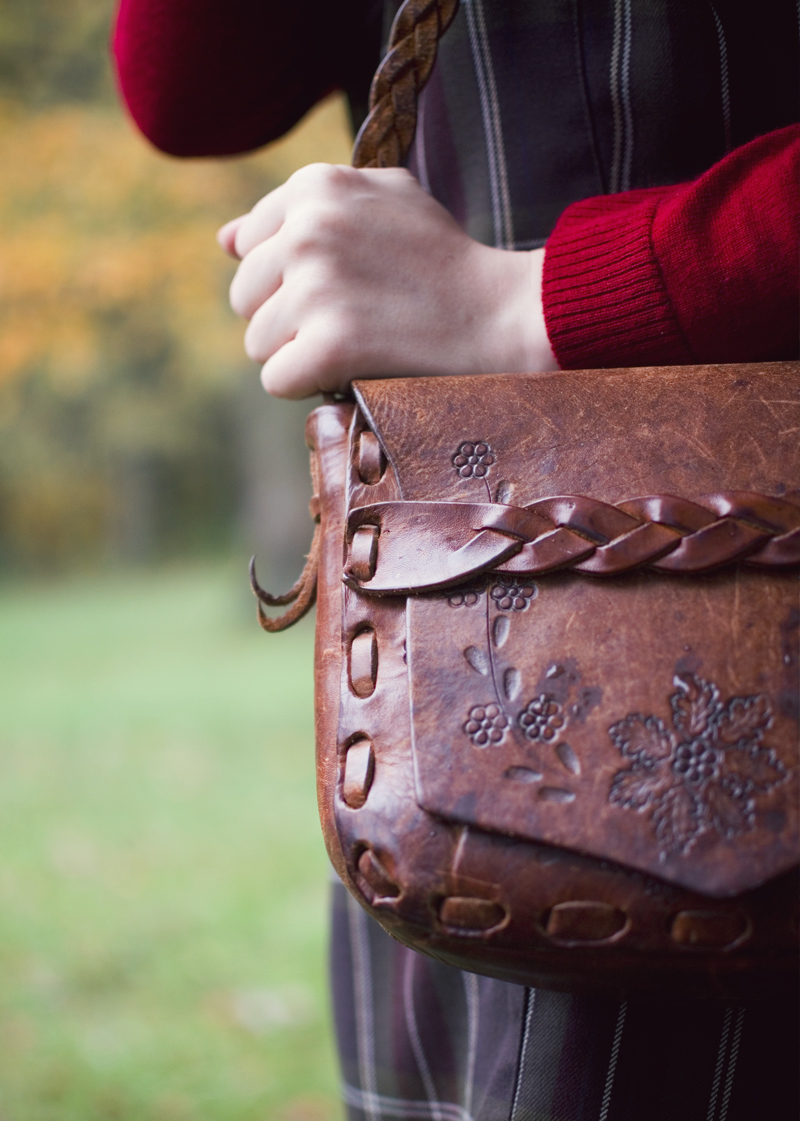 The Flying Clubhouse: October Rain | tooled leather bag