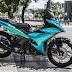 Sơn xe máy Exciter 150 màu xanh kim tuyến cực đẹp