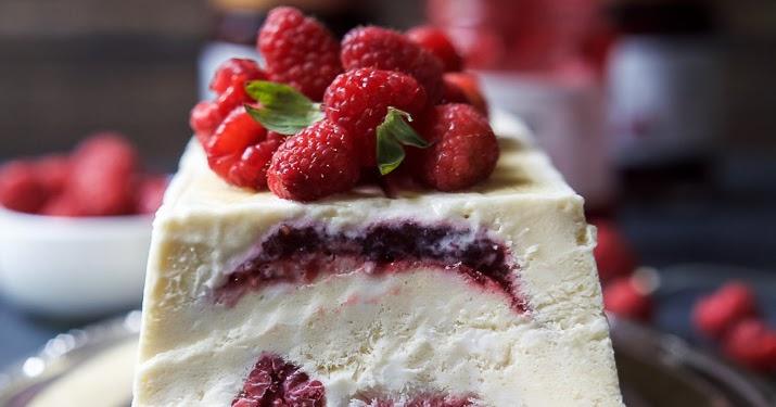 Raspberry Amaretto Semifreddo #Recipe - My Favorite Things