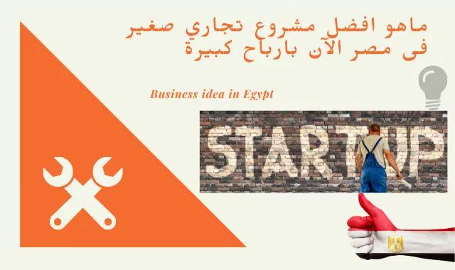 ماهو افضل مشروع تجاري صغير فى مصر الآن بارباح كبيرة