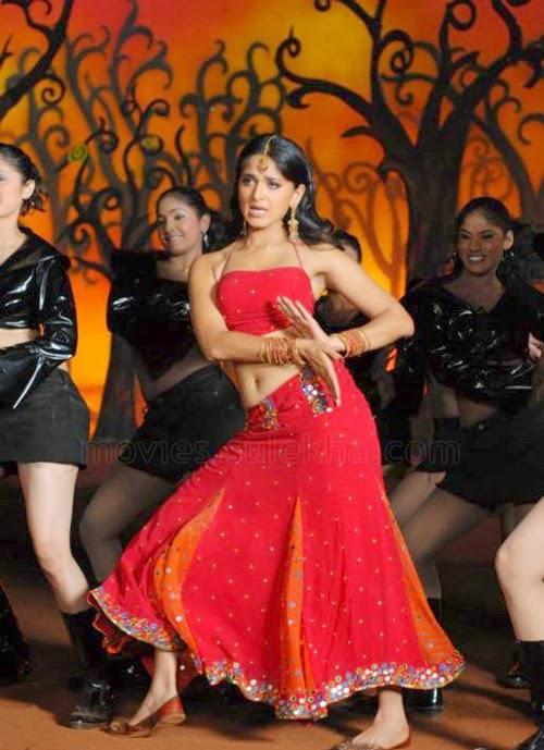 Anushka Shetty hot in red, Anushka Shetty sexy feet