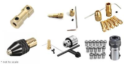Chucks for mini drill tools