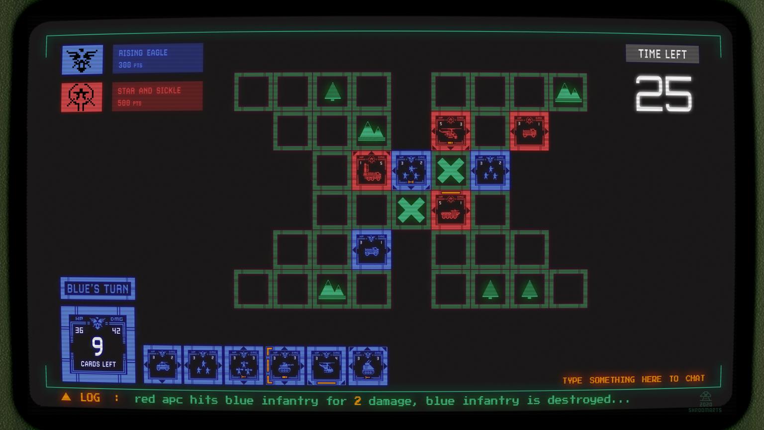 card battle combat screen
