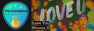 Monsta X - LOVE YOU Guitar Chords