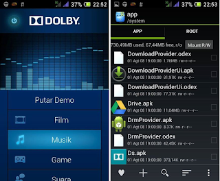Dolby for acer liquid z4 odex and deodex
