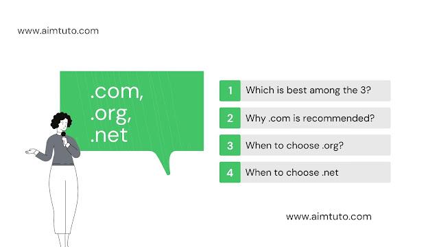 how do i choose between a .com .org or .net domain