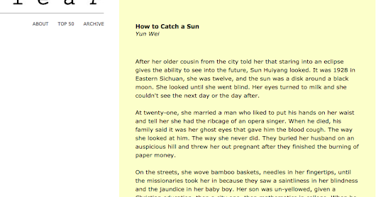 "Story ""How to Catch a Sun"" in Wigleaf & Nominated for Pushcart!"