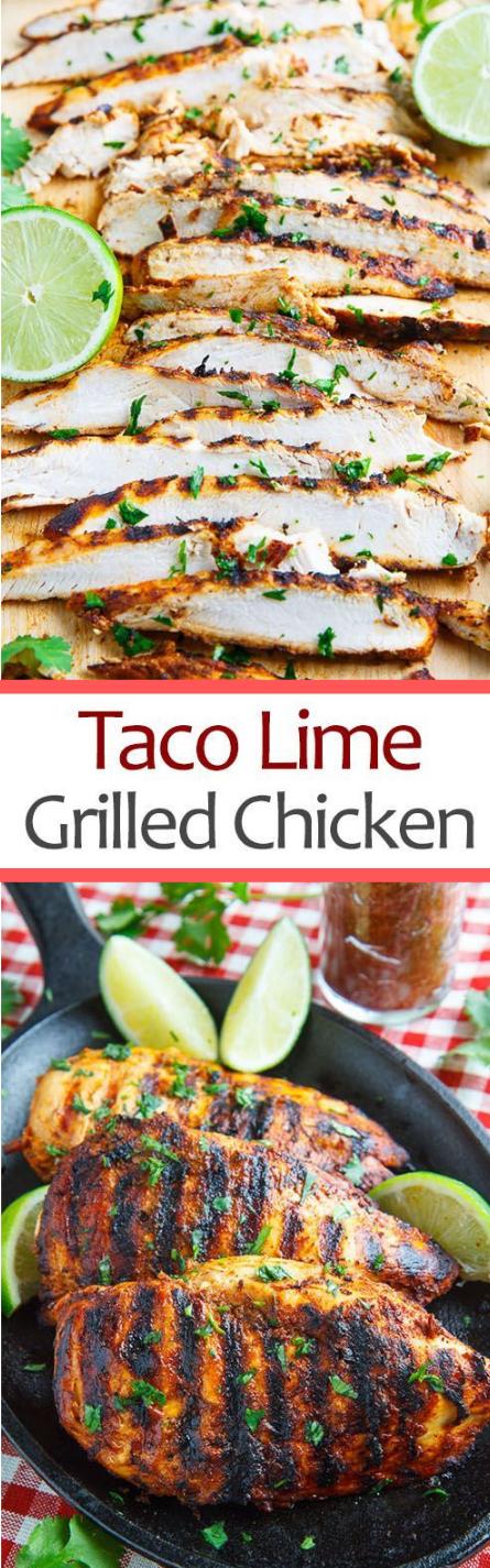 Taco Lime Grilled Chicken #chicken #dinner