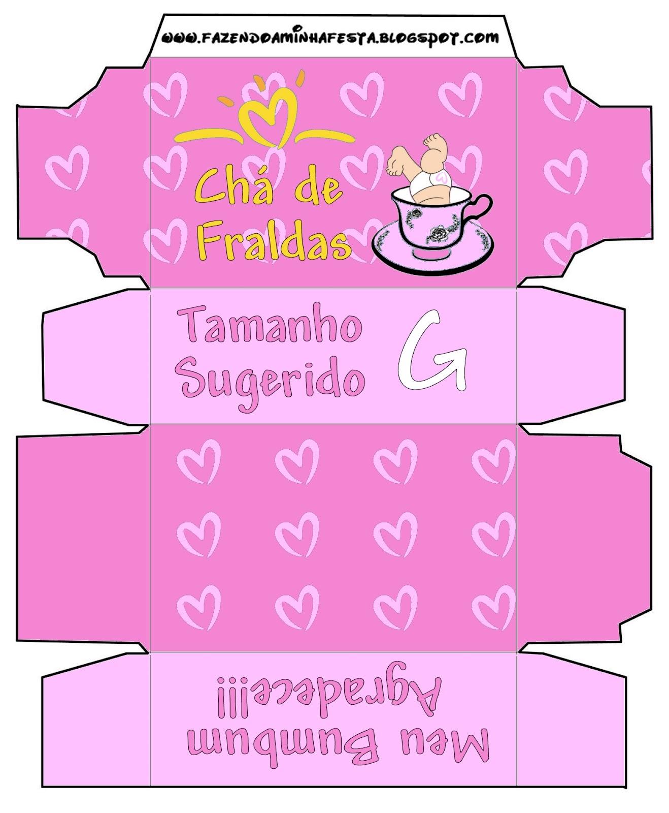 709cd8101bb2d Convite Caixa Pampers para Chá de Fraldas! - Fazendo a Minha Festa