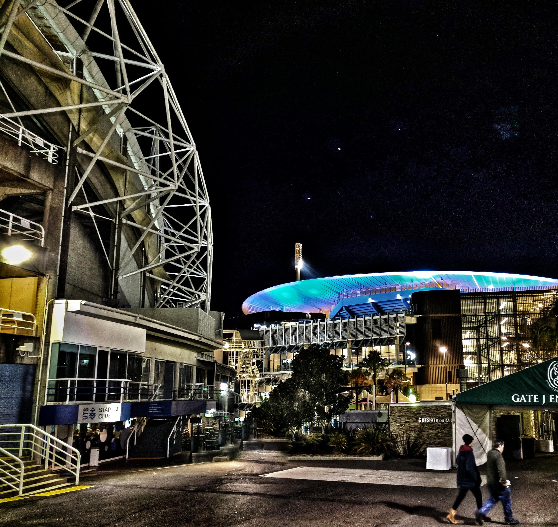 Sydney stadia, heavily edited photo