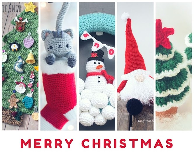 12 Weeks of Christmas Crochet Projects Free Patterns