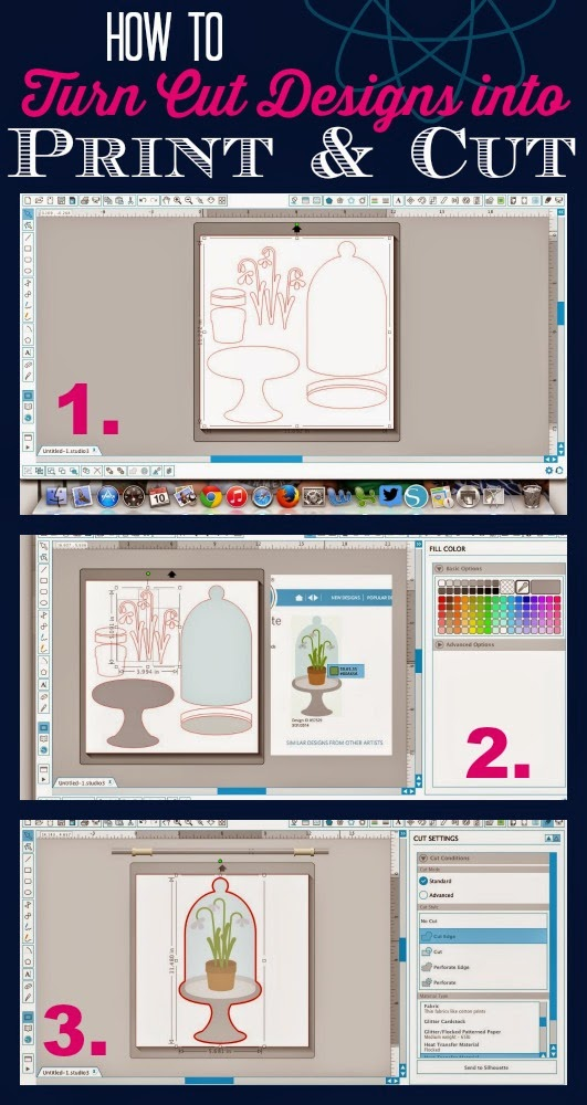 Silhouette Studio, print and cut, Silhouette Store design, Silhouette tutorial