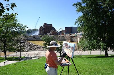 DC General Hospital demolition painting