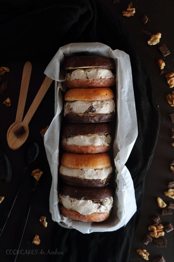 Helado de Plátano, Chocolate y Nueces. Mi versión del Chunky Monkey Ice Cream. Cookcakes de Ainhoa