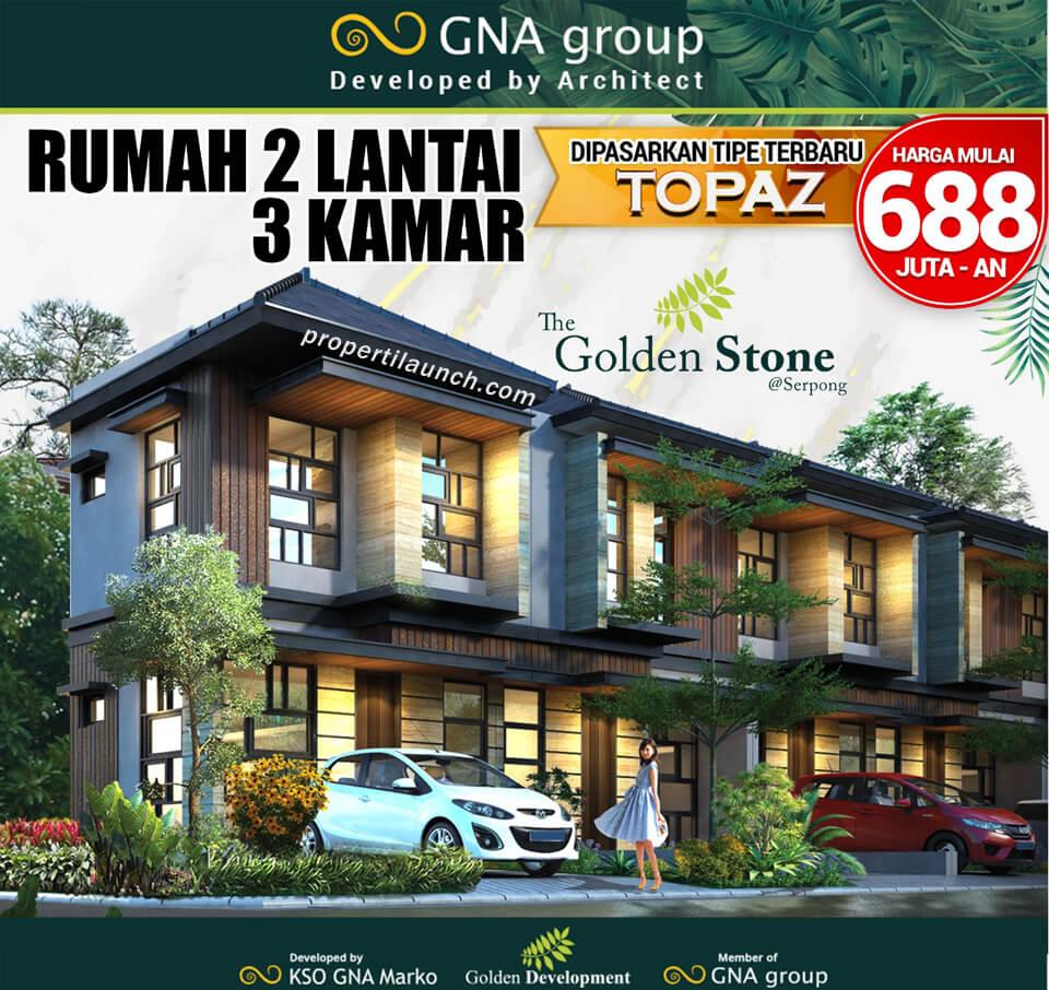 Dijual Rumah Golden Stone Serpong Tipe Topaz