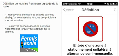 application iphone code de la route