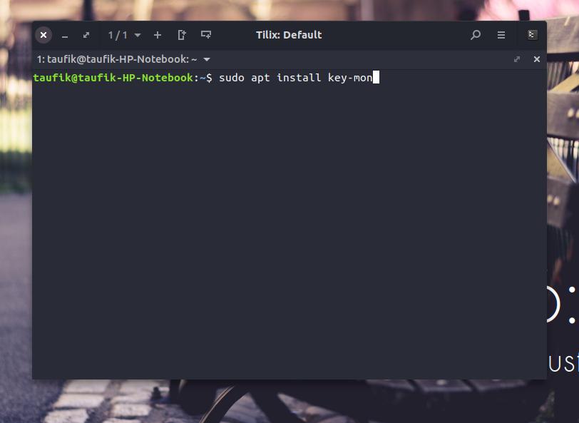 Cara Menampilkan Input Keyboard Pada Linux - KeyMon