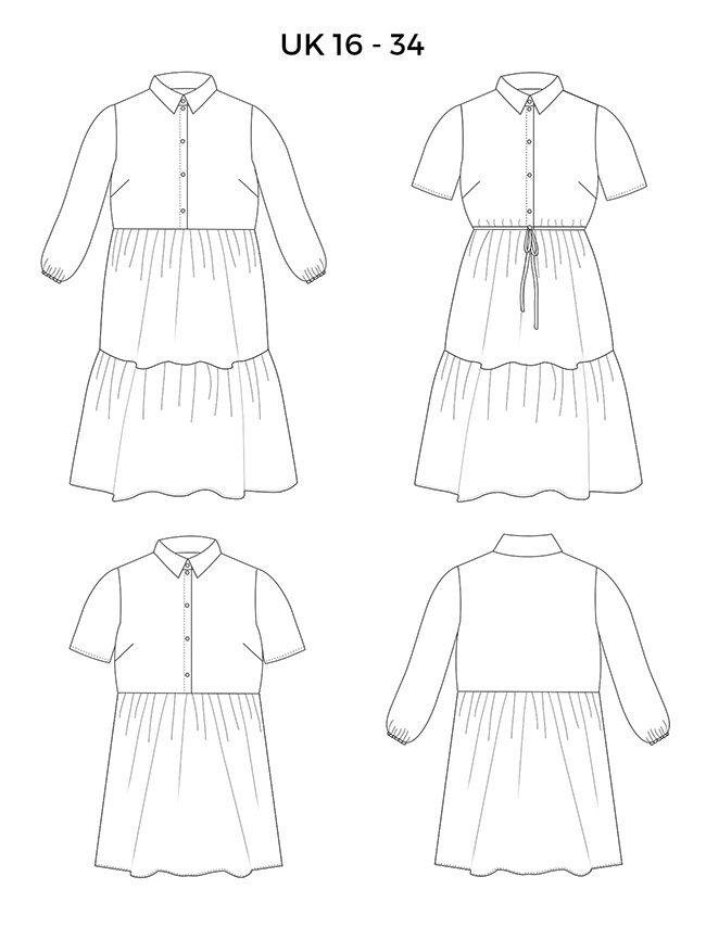 Lyra dress - UK 6-34 sewing pattern by Tilly and the Buttons
